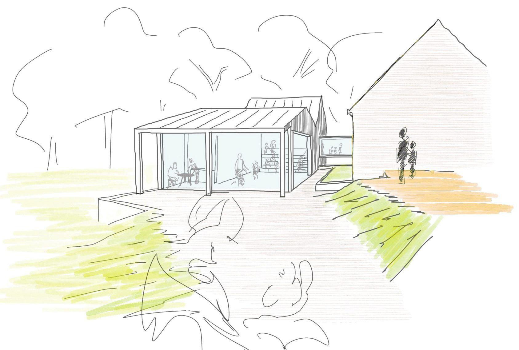 Halbtuch Architekten Wuppertal Bauantrag Bauen im Bestand Einfamilienhaus